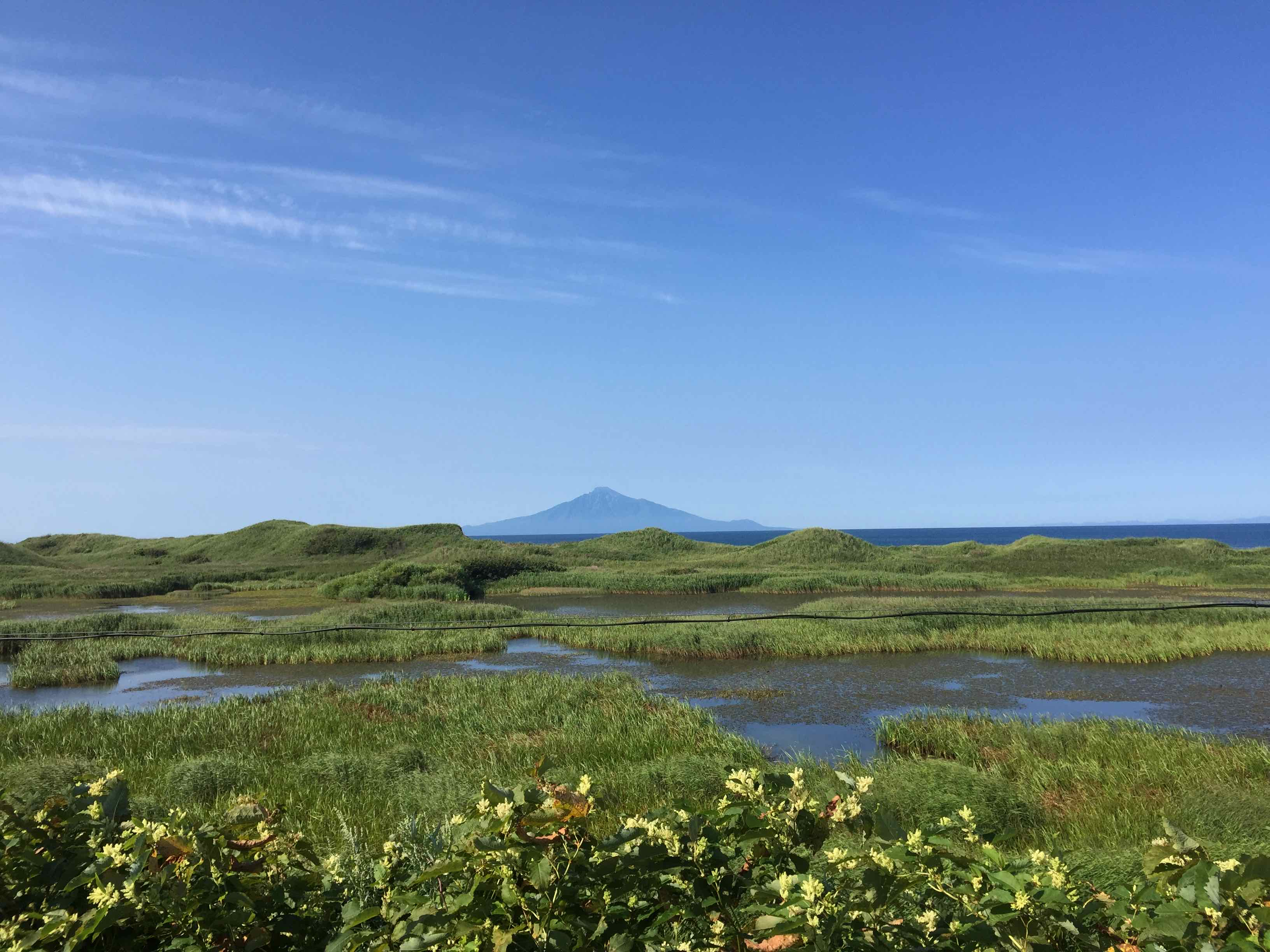 サロベツ原野から見る利尻富士