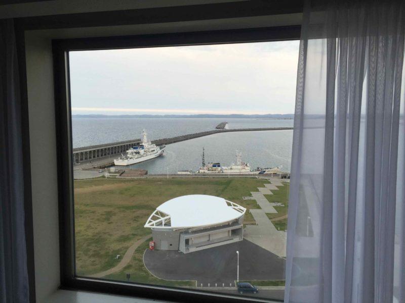 ホテルの客室からの眺め