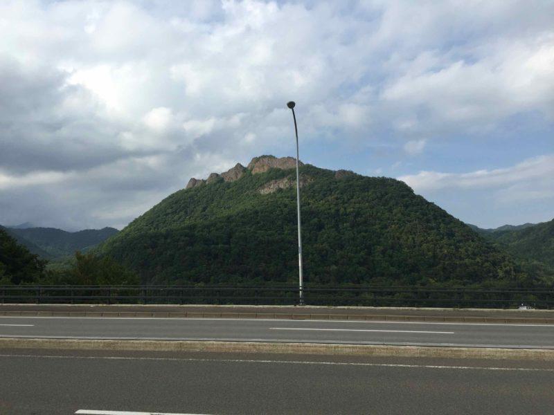 定山渓への道